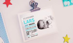 Geburtskarte Lars