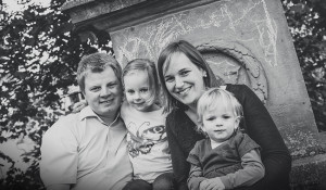 Familienbilder im Frühling