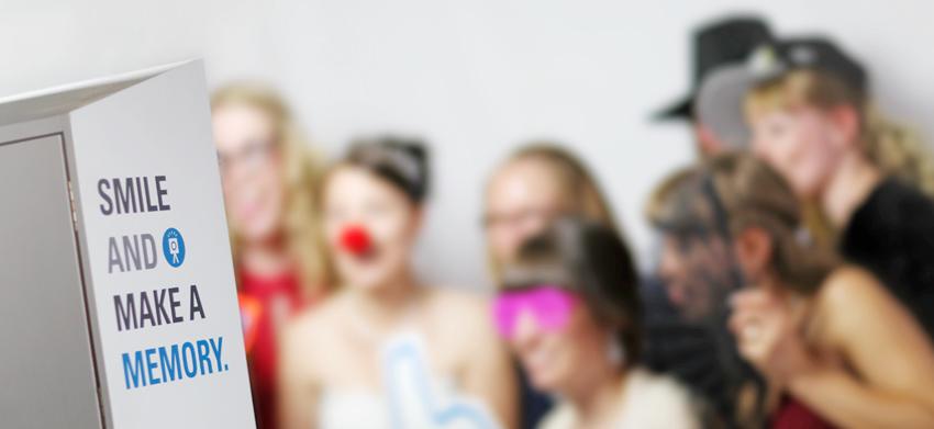 Fotobox auf einer Hochzeit