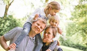 Familienbilder im Sommer